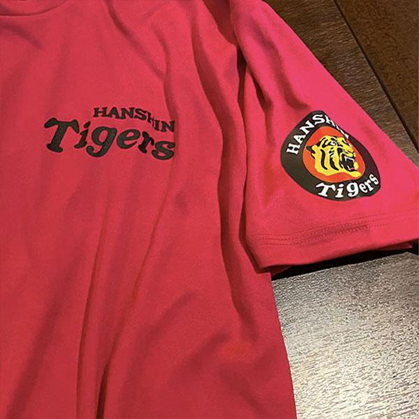 オリジナルプリントTシャツ-阪神タイガースロゴ シルクスクリーンプリント事例